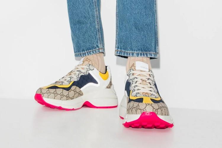 古驰GucciDrops多色RhytonGGMonogram运动鞋