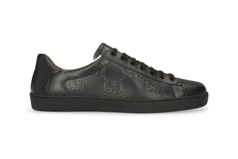 """古驰Gucci的New Ace运动鞋新增"""" Triple Black""""配色"""