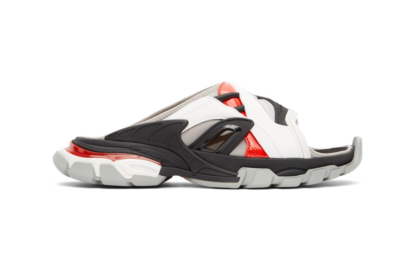 巴黎世家(Balenciaga)推出了Track Sandal凉鞋,选用红色配色