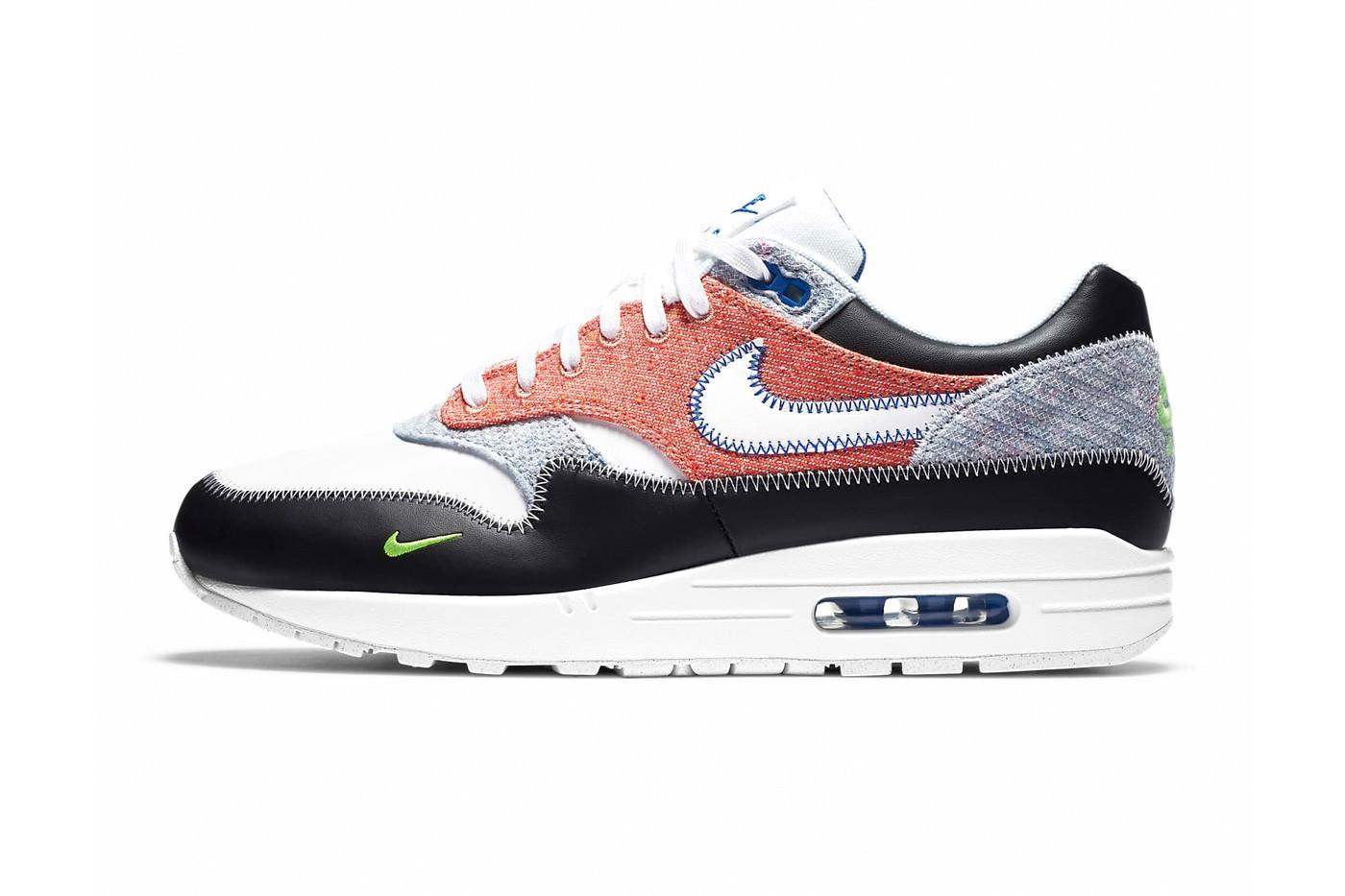 Nike Air Max 1采用精细编织的棉质鞋面