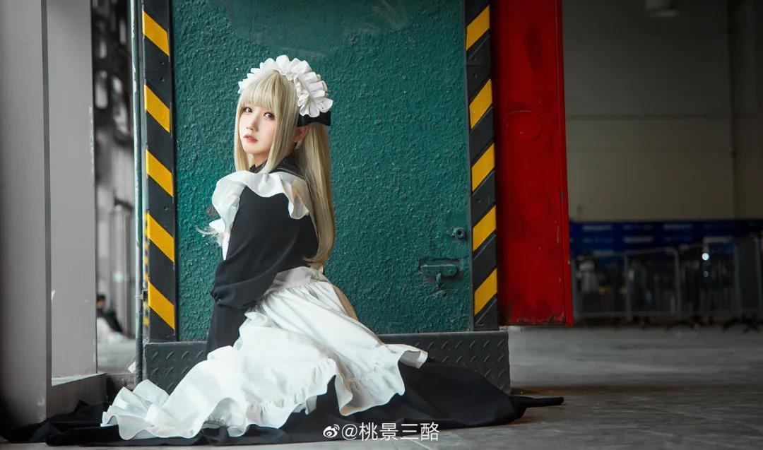 漂亮女孩系列,桃景三酪黑丝女仆写真