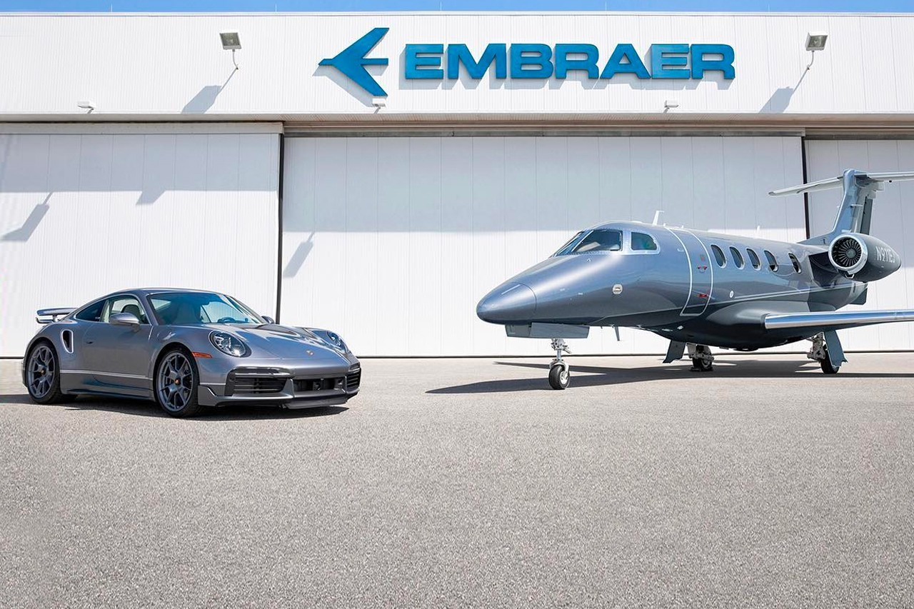 保时捷x巴西航空公司推出911 Turbo S和商务喷气机组合限量十套