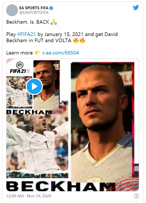 大卫·贝克汉姆(David Beckham)重返 FIFA 21