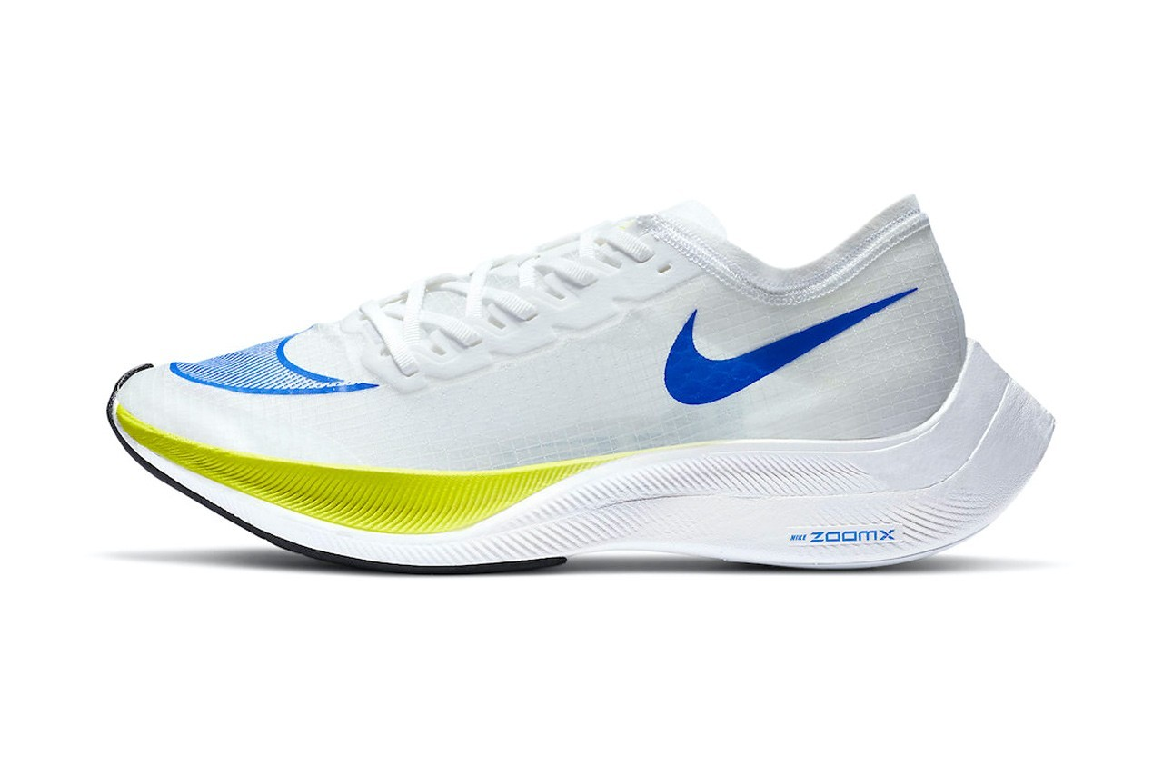 Nike ZoomX VaporFly NEXT% White Cyber配色