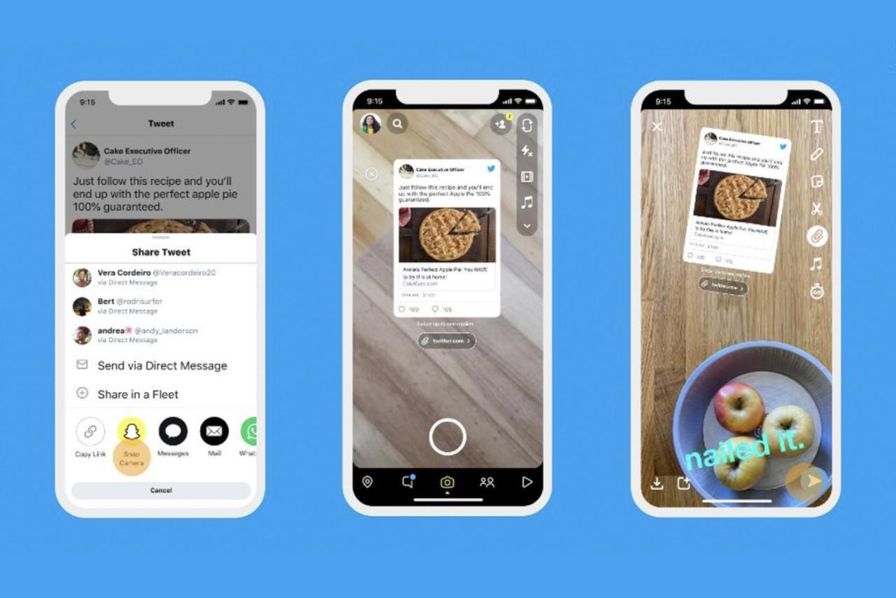 Twitter现在将允许用户在Instagram和Snapchat上共享推文
