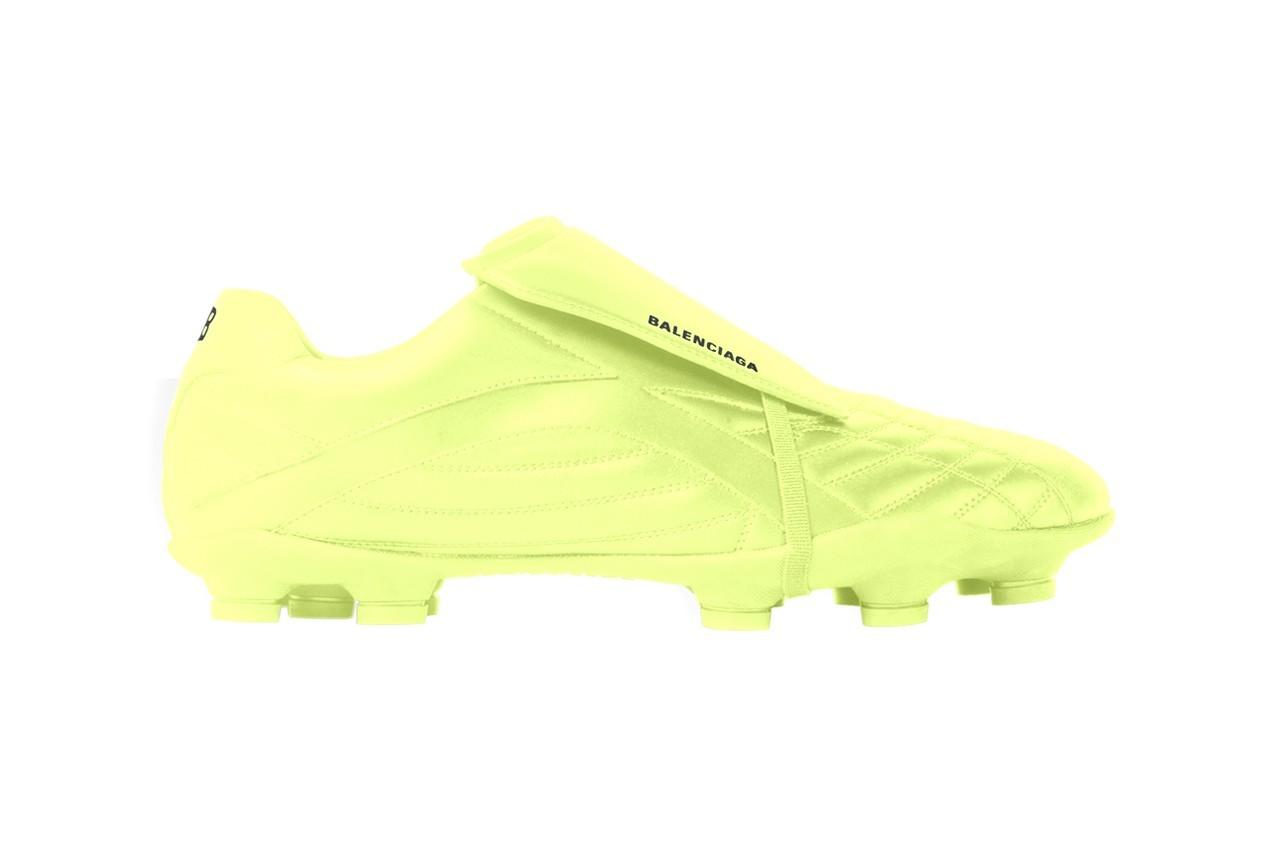 巴黎世家发布荧光黄配色足球运动鞋