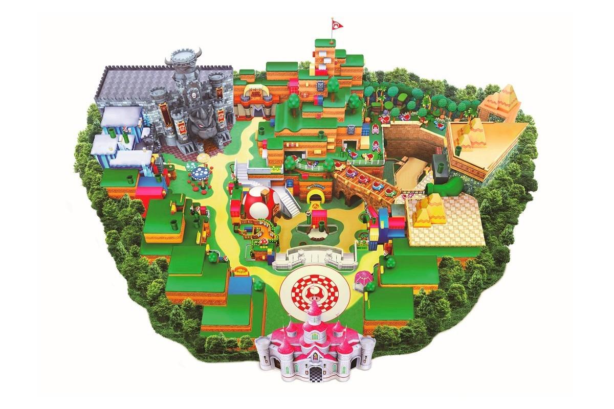日本环球影城正式发布其最终的超级任天堂世界游乐园地图