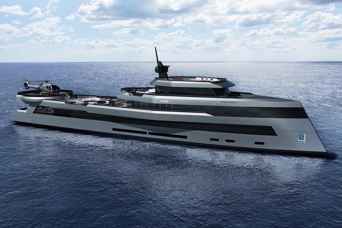 Kyron Design的Nzuri是一艘230英尺的远征超级游艇