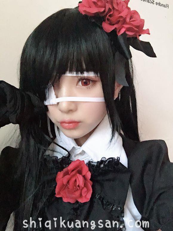 时崎狂三仿妆,丑妹子求轻喷_图片 No.6