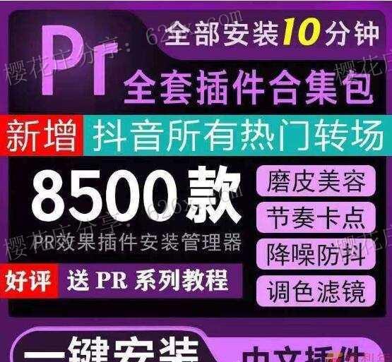 8500款PR全套插件合集包,新增抖音所有热门转场,附安装视频教程 配图 No.1