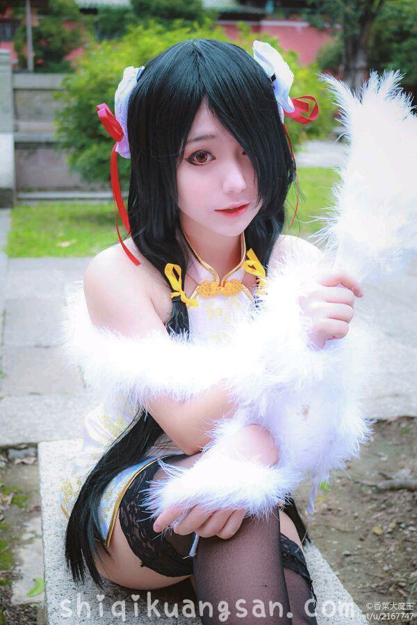 【狂三cosplay】色气小姐姐@大魔王香菜 开叉旗袍COSPLAY!_图片 No.1
