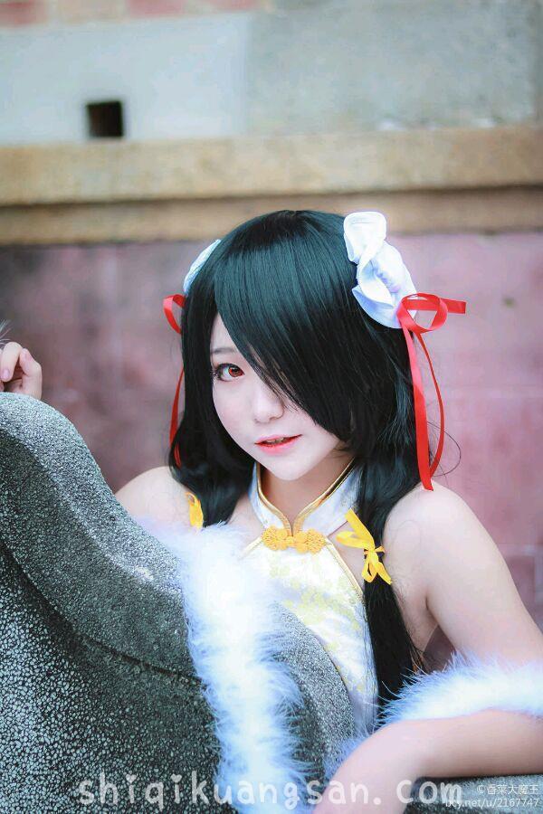 【狂三cosplay】色气小姐姐@大魔王香菜 开叉旗袍COSPLAY!_图片 No.2