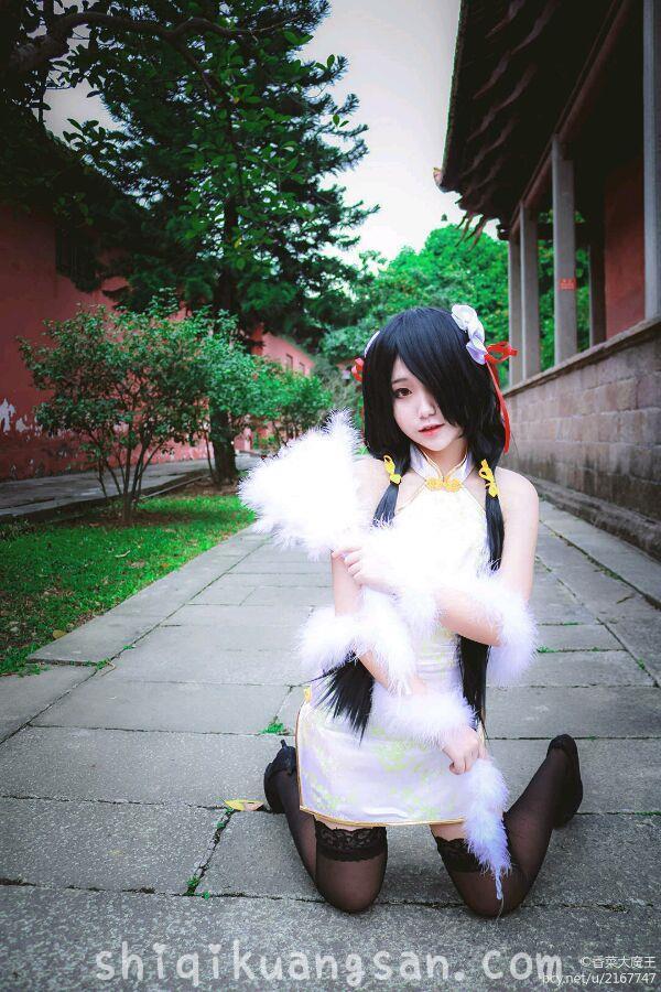 【狂三cosplay】色气小姐姐@大魔王香菜 开叉旗袍COSPLAY!_图片 No.5