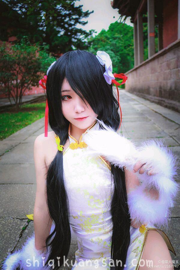 【狂三cosplay】色气小姐姐@大魔王香菜 开叉旗袍COSPLAY!_图片 No.7