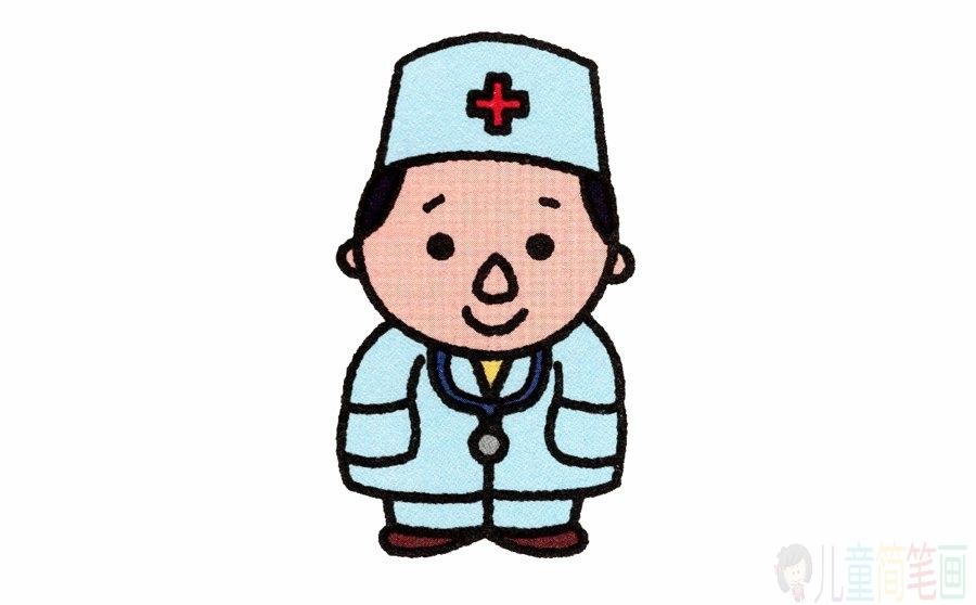 医生的简笔画画法步骤图解_图片 4