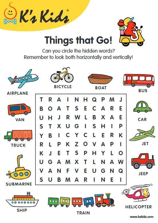 K's Kids英语小游戏PDF,11个分类(涂色、走迷宫、找不同、找单词、故事排序等)图片 No.2