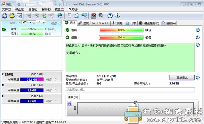 [Windows]硬盘哨兵(Hard Disk Sentinel)5.61中文绿便携专业版图片 No.3