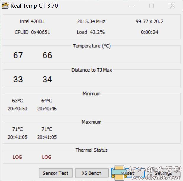 测CPU温度的小工具 RealTemp v3.70图片 No.2