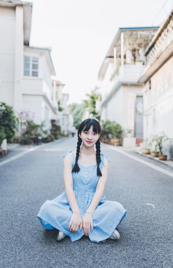 妹子摄影 – 20岁的某一天,麻花瓣长裙_图片 No.7