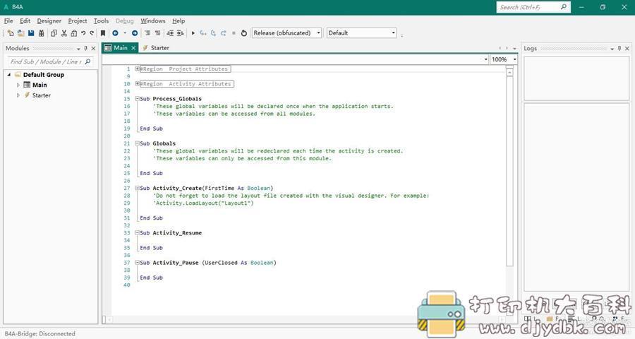 [Windows]Basic4Android B4A v9.80 免费全功能原版无需破解 用Basic开发安卓程序图片 No.1