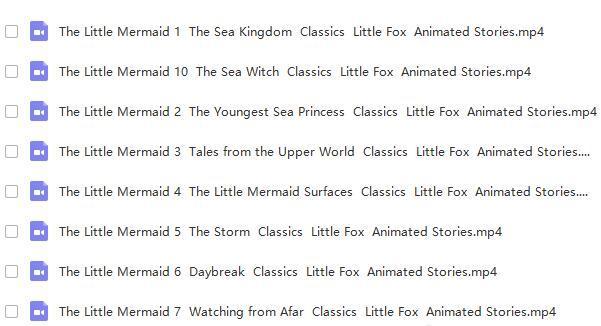 little fox兒童英語動畫Princess系列【小美人魚+灰姑娘+拇指姑娘】視頻帶字幕圖片 No.2