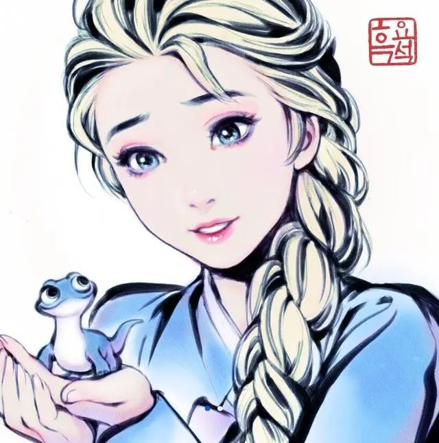 韩国画师的鬼斧神工,木之本樱长大后的模样,迪士尼公主变得更仙!_图片 No.7