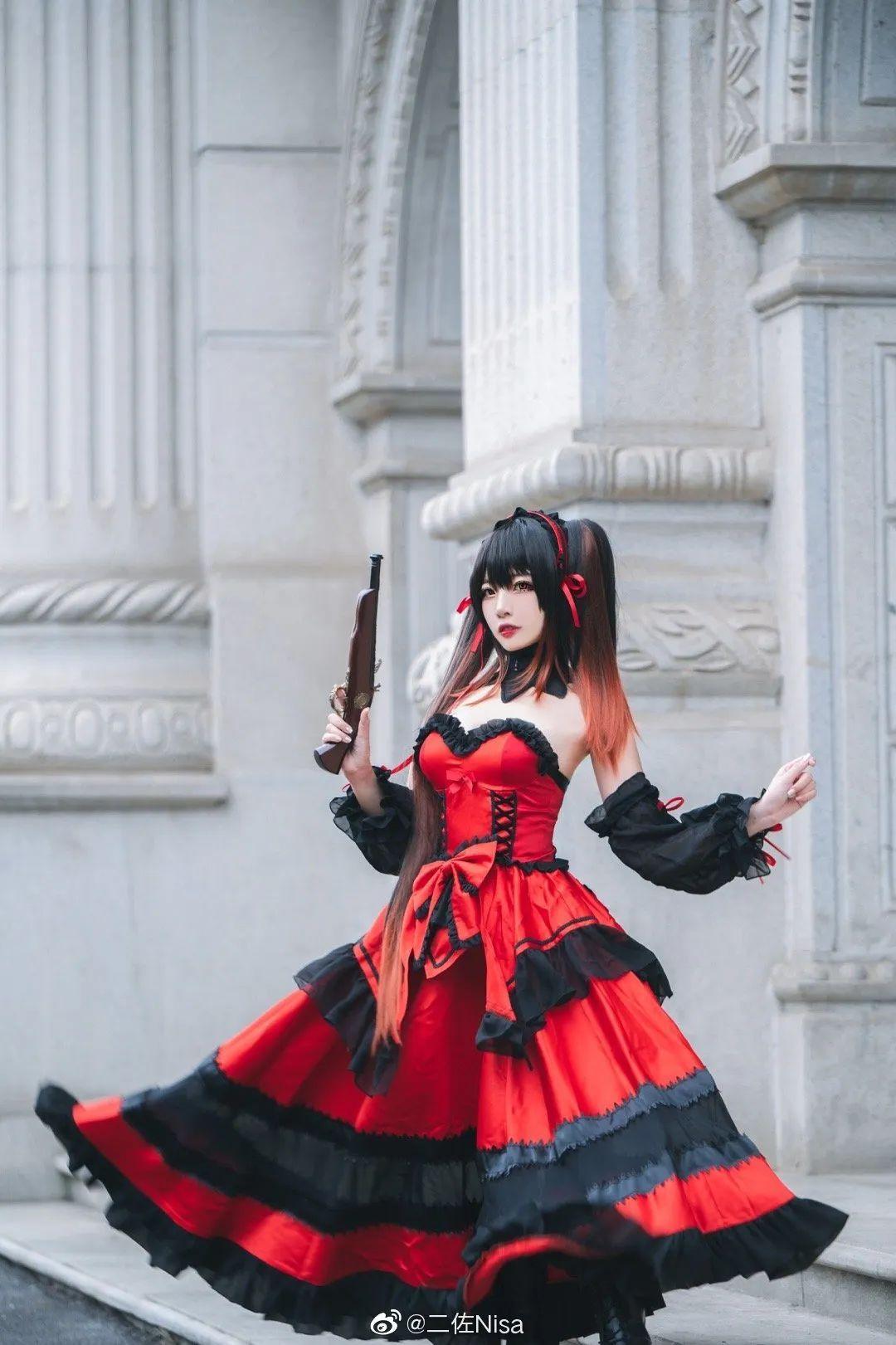 cosplay – 《约会大作战》时崎狂三,持枪的三三太A了 (cn:二佐Nisa)_图片 No.2
