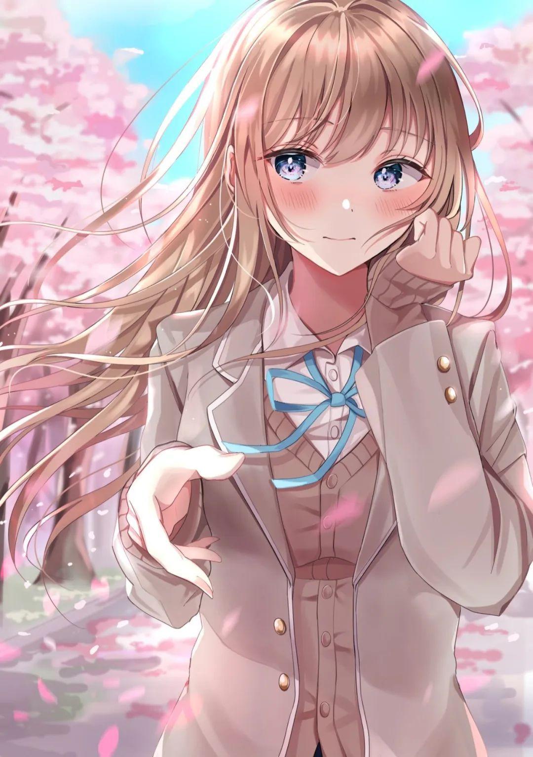 4月12日,二次元美图!JK短裙与粉色樱花配一脸!_图片 No.2