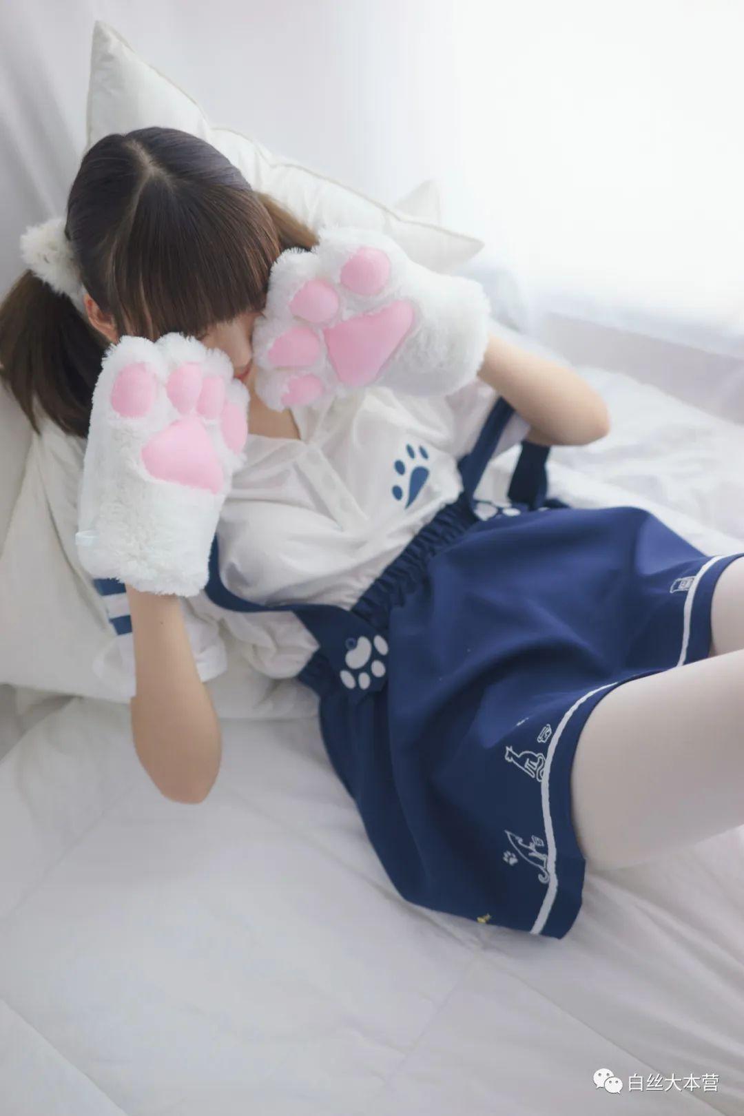 妹子摄影 – 白色丝袜大长腿合集_图片 No.2