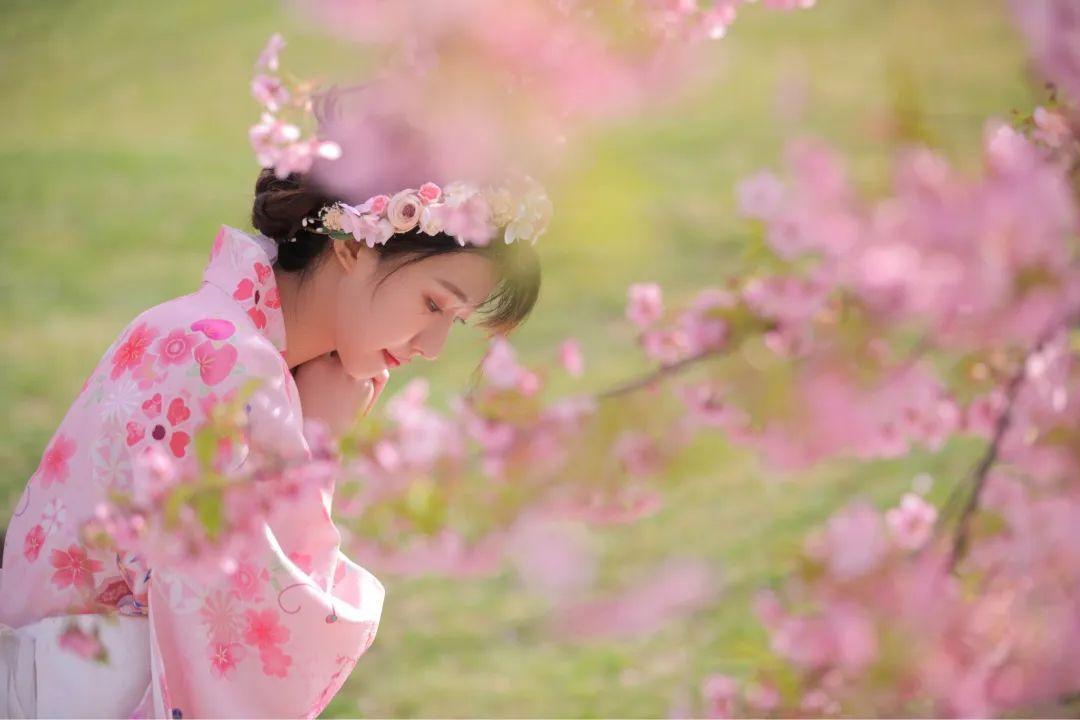 妹子摄影 – 粉粉的日系少女樱花树下写真_图片 No.2