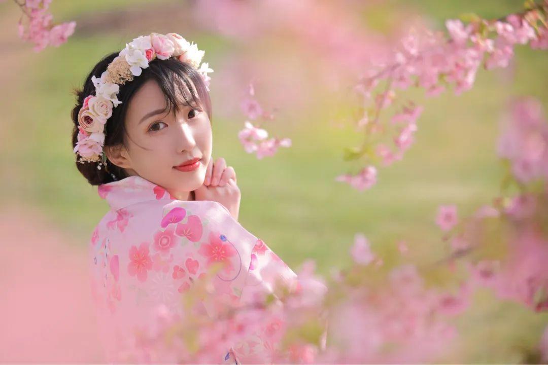 妹子摄影 – 粉粉的日系少女樱花树下写真_图片 No.3
