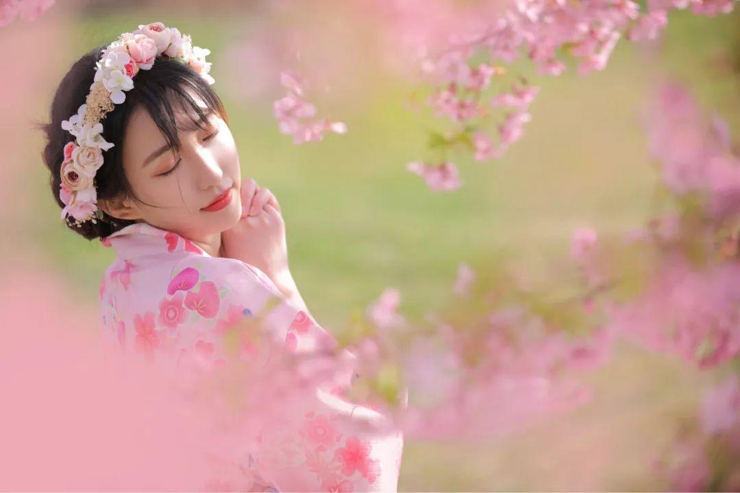 妹子摄影 – 粉粉的日系少女樱花树下写真_图片 No.4