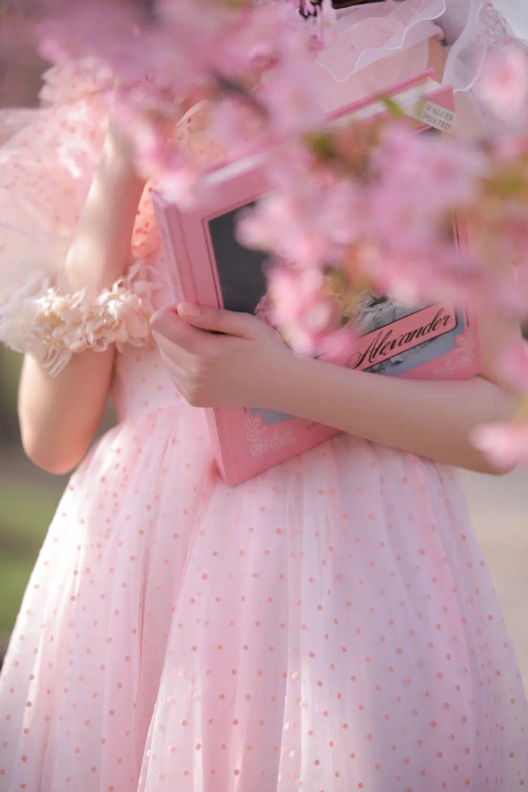 妹子摄影 – 粉粉的日系少女樱花树下写真_图片 No.9