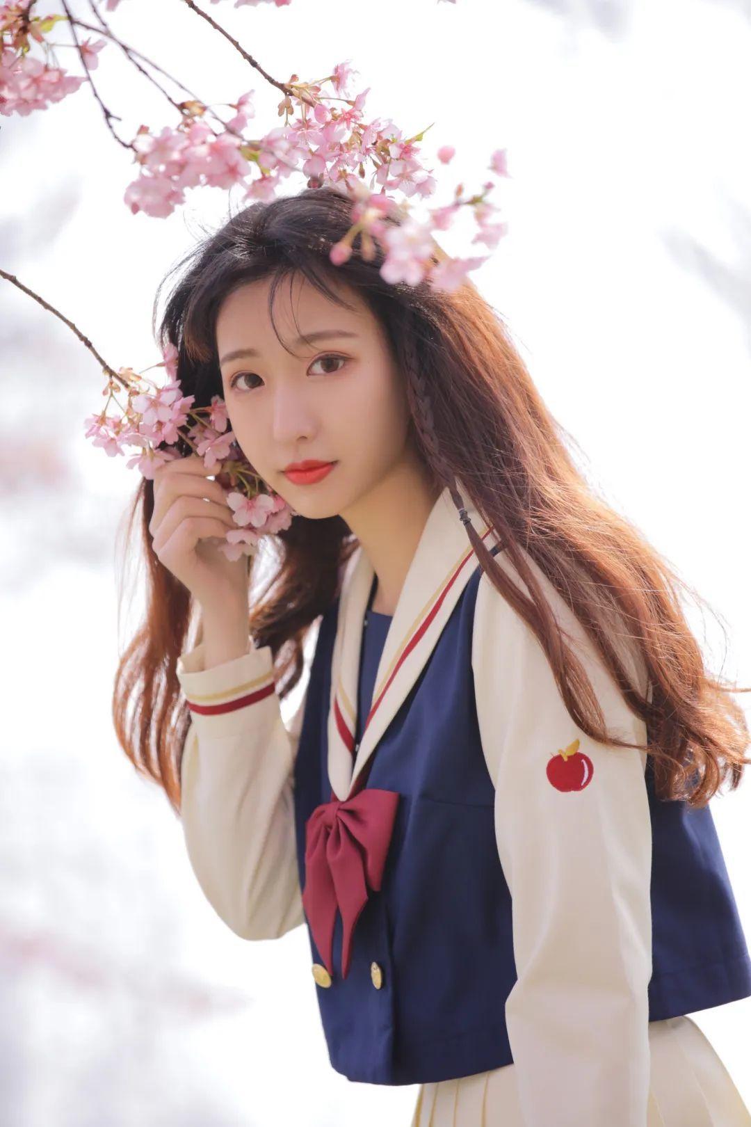 妹子摄影 – 粉粉的日系少女樱花树下写真_图片 No.10