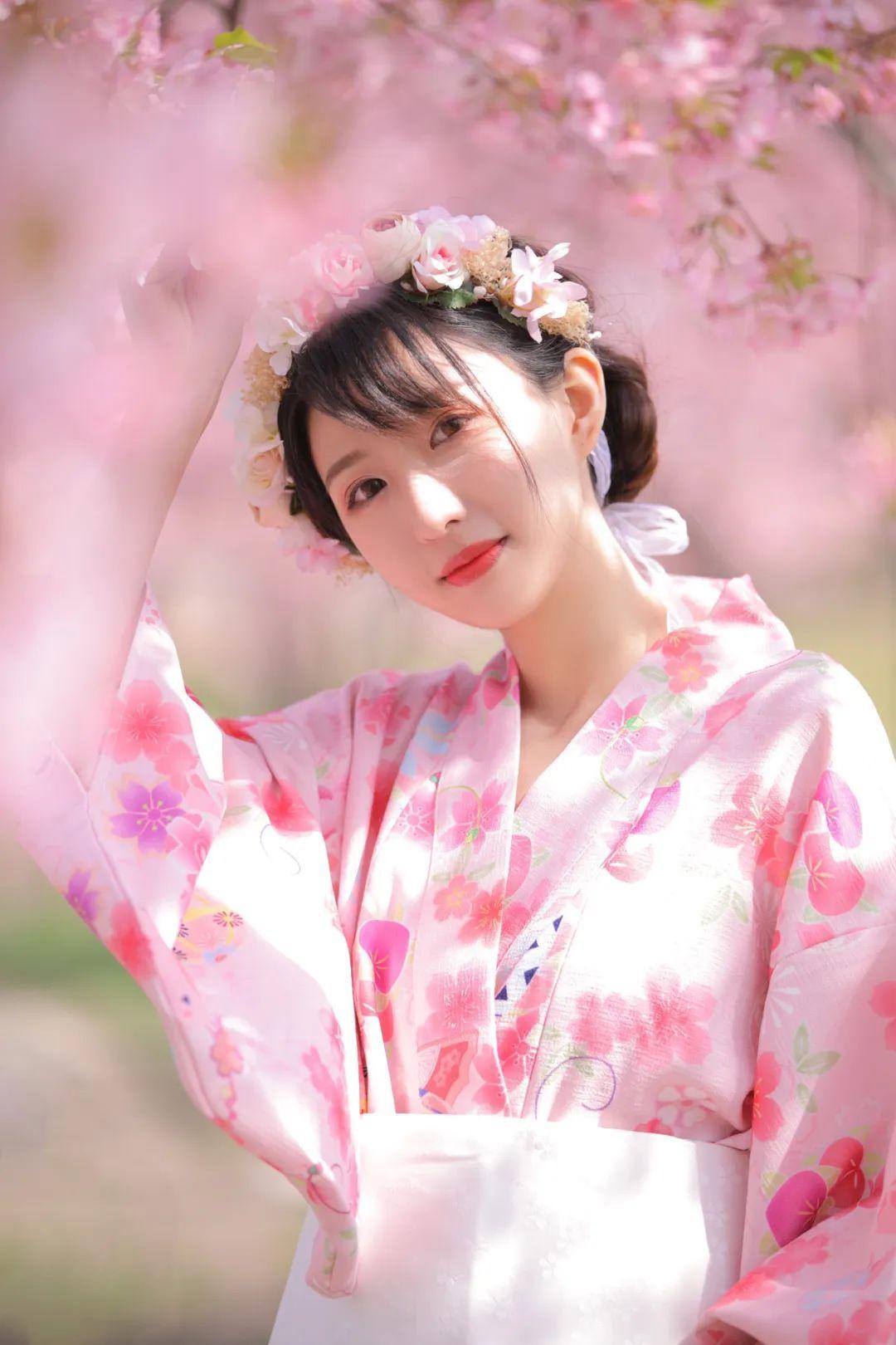 妹子摄影 – 粉粉的日系少女樱花树下写真_图片 No.13