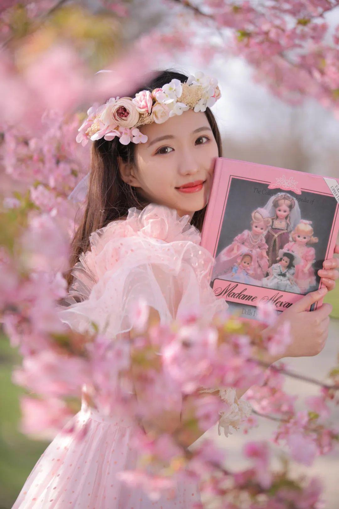 妹子摄影 – 粉粉的日系少女樱花树下写真_图片 No.21