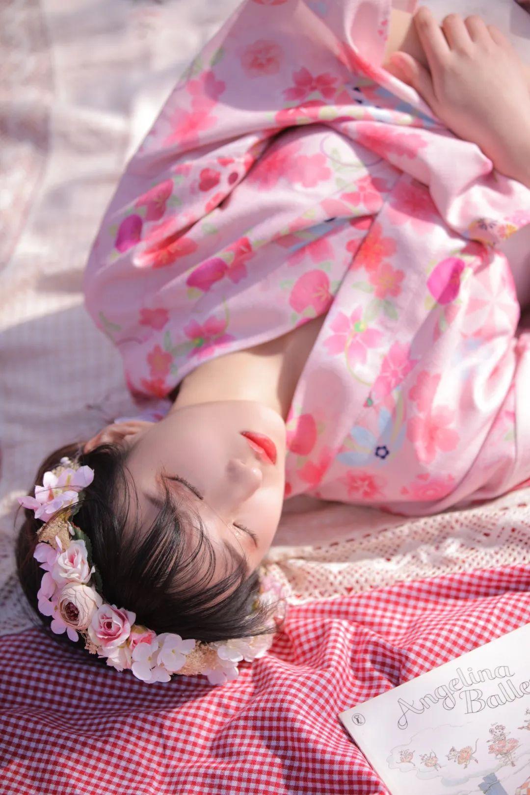 妹子摄影 – 粉粉的日系少女樱花树下写真_图片 No.25