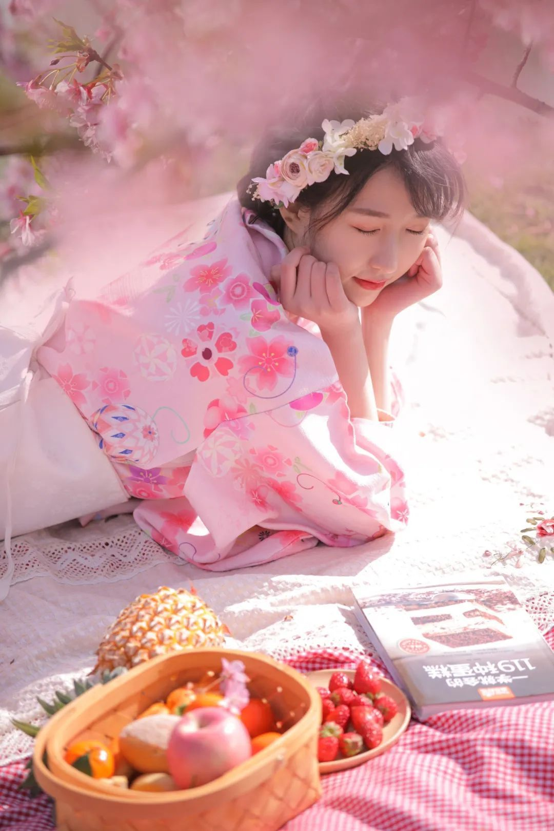 妹子摄影 – 粉粉的日系少女樱花树下写真_图片 No.28