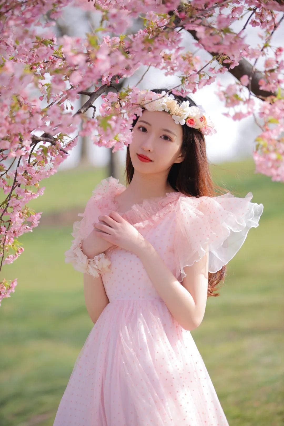 妹子摄影 – 粉粉的日系少女樱花树下写真_图片 No.29