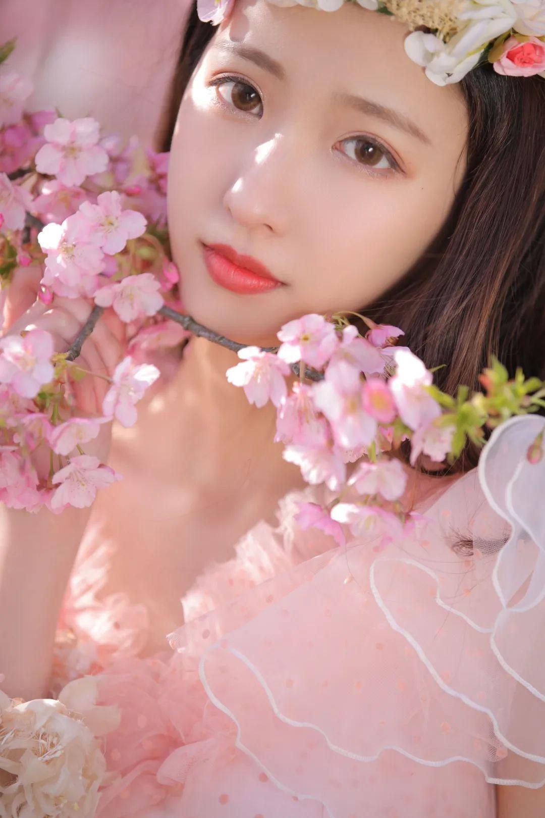 妹子摄影 – 粉粉的日系少女樱花树下写真_图片 No.34