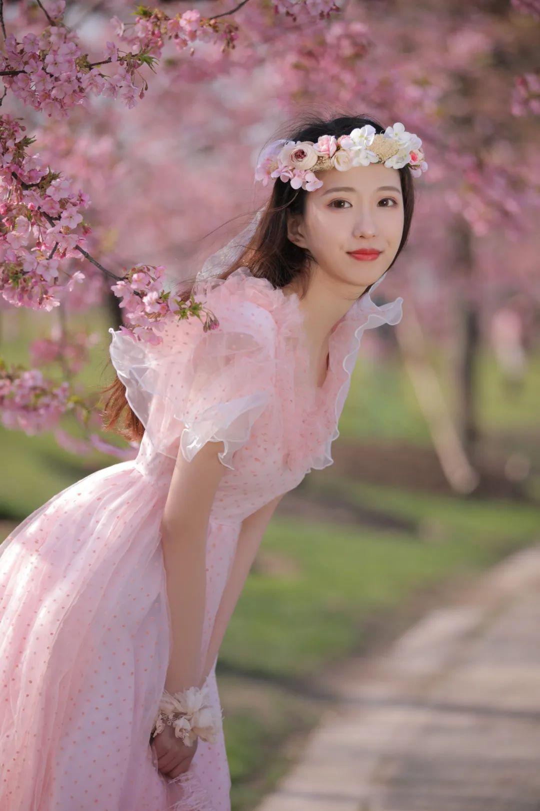 妹子摄影 – 粉粉的日系少女樱花树下写真_图片 No.36