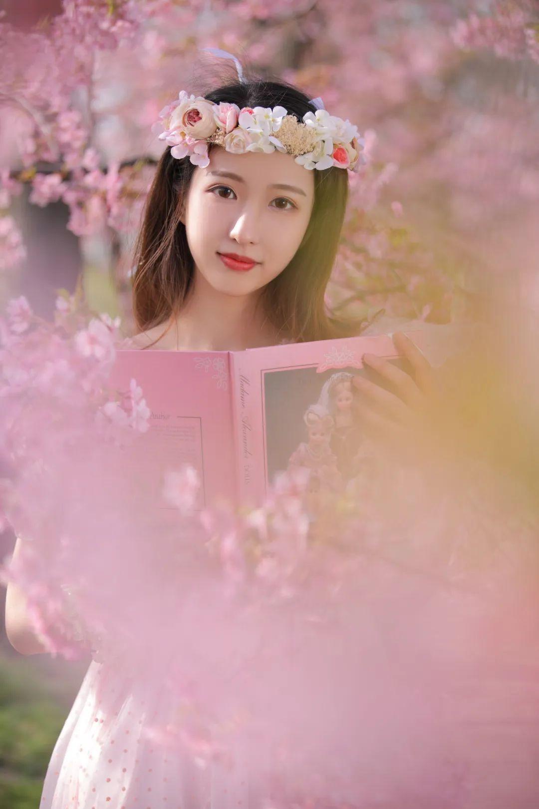 妹子摄影 – 粉粉的日系少女樱花树下写真_图片 No.37