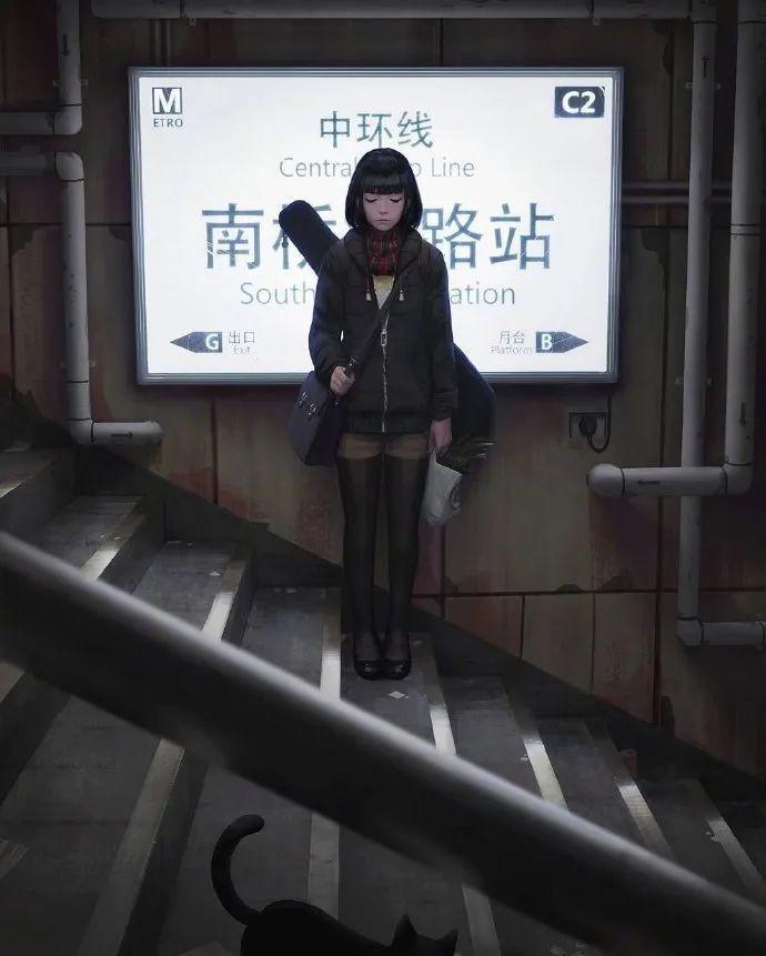 4月14日,二次元美图!阴影中的少女_图片 No.3