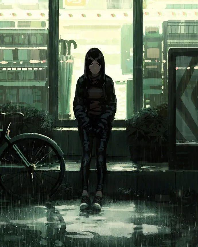 4月14日,二次元美图!阴影中的少女_图片 No.4