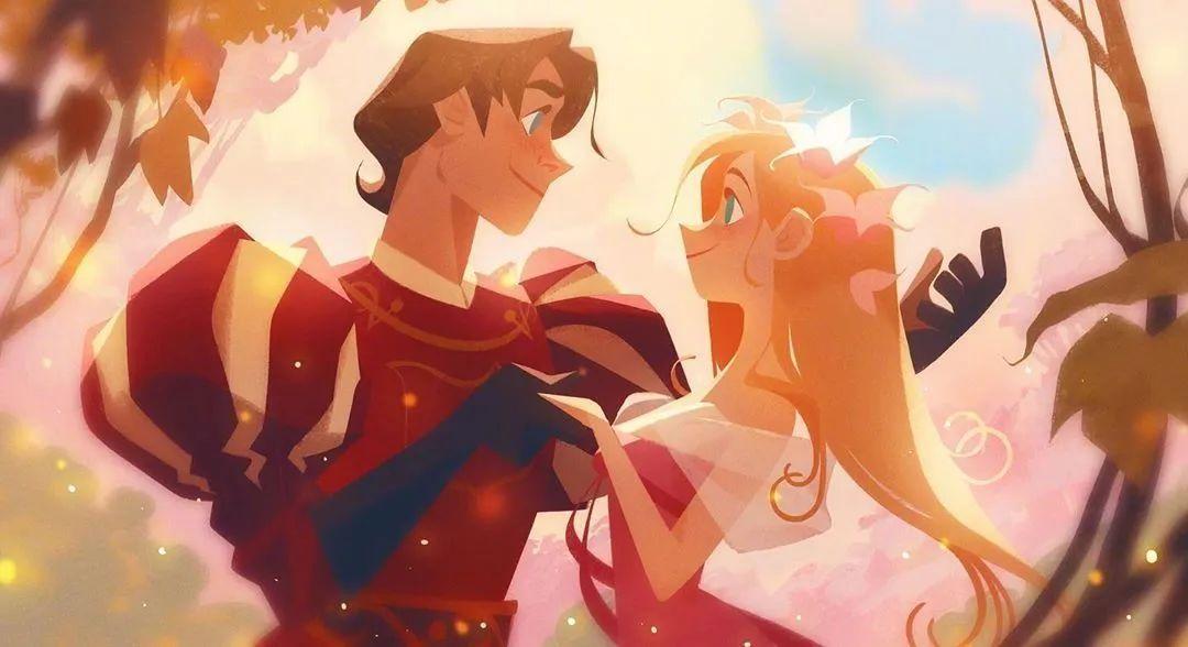 4月16日,二次元美图!迪士尼公主与王子+少女们大眼睛含泪花_图片 No.5