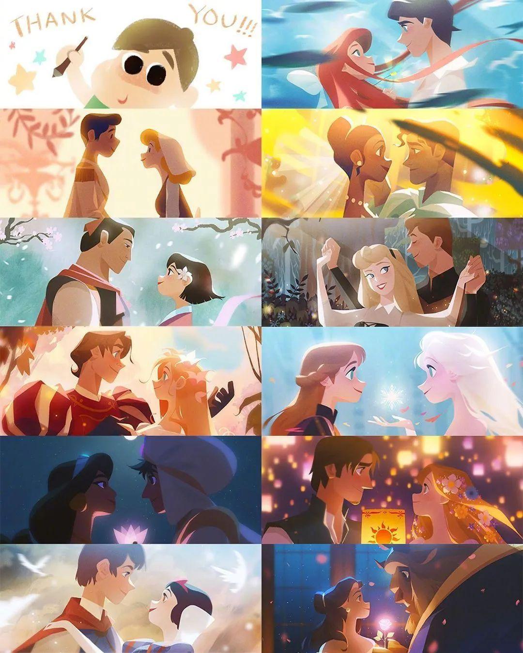 4月16日,二次元美图!迪士尼公主与王子+少女们大眼睛含泪花_图片 No.11