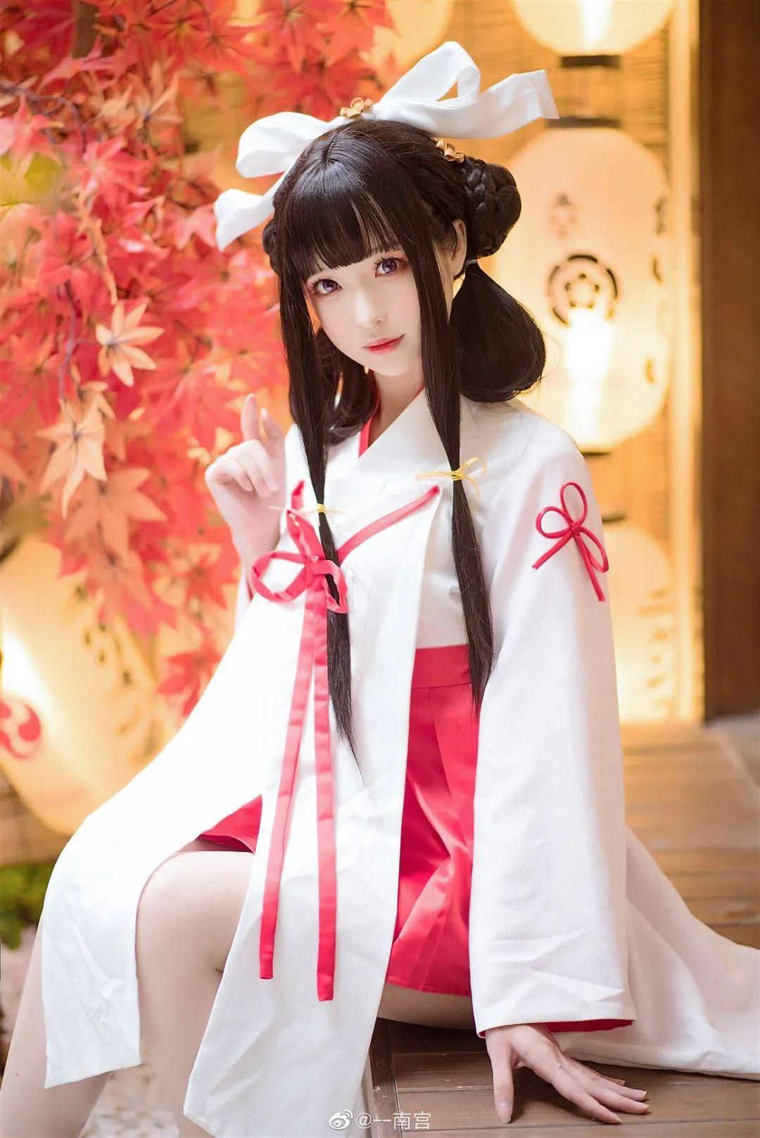 Cosplay—《双生视界》菊理千姬,甜美和服完美演绎!_图片 No.1