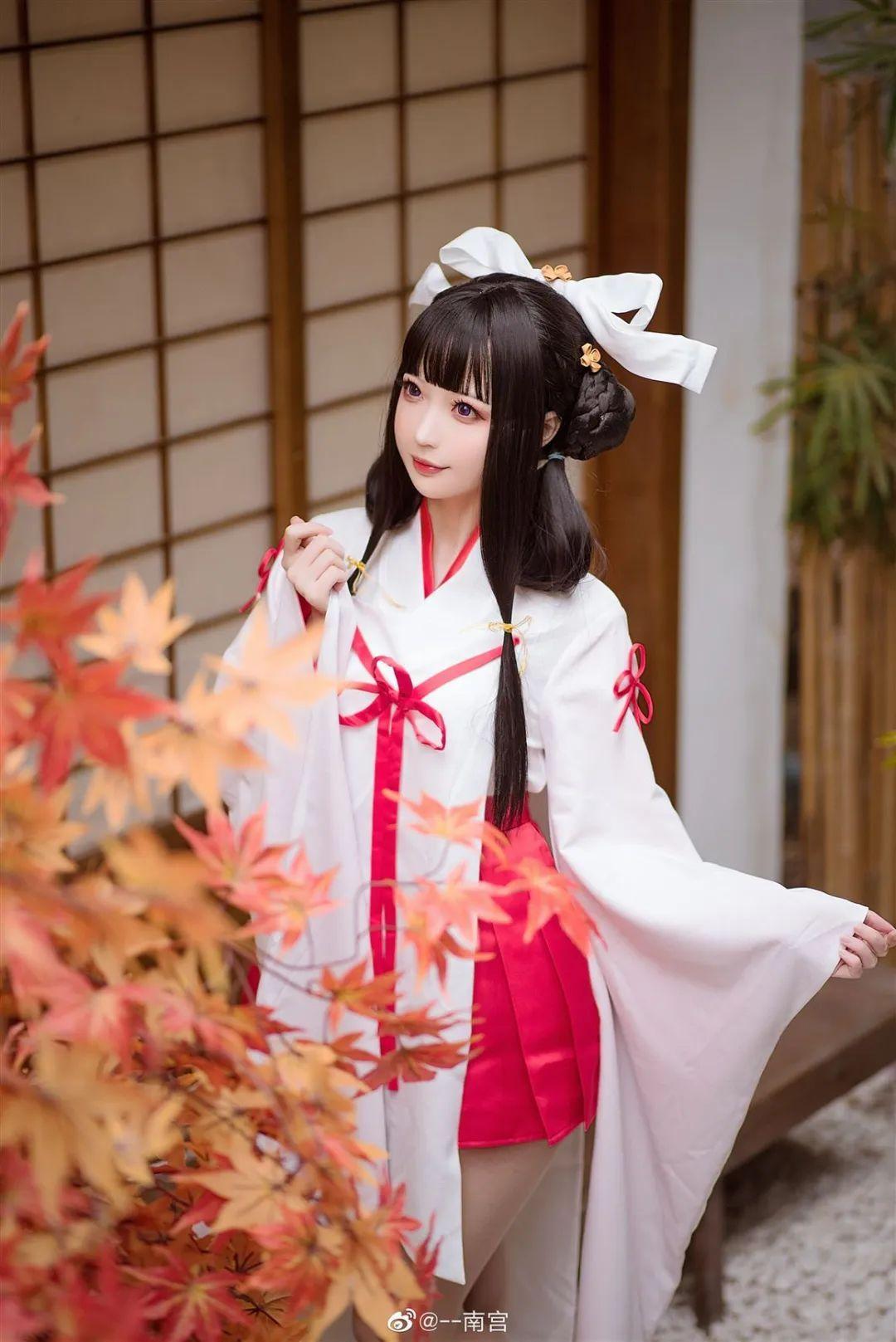 Cosplay—《双生视界》菊理千姬,甜美和服完美演绎!_图片 No.2