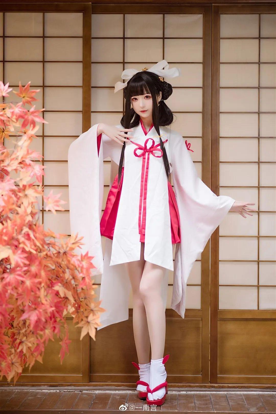 Cosplay—《双生视界》菊理千姬,甜美和服完美演绎!_图片 No.4
