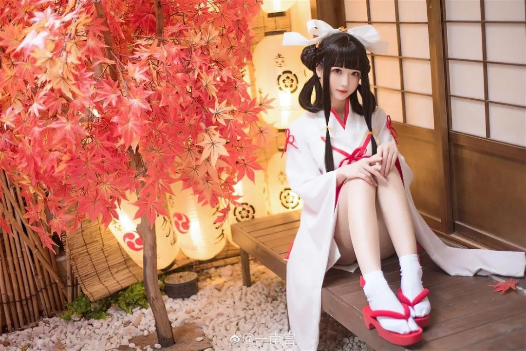 Cosplay—《双生视界》菊理千姬,甜美和服完美演绎!_图片 No.5